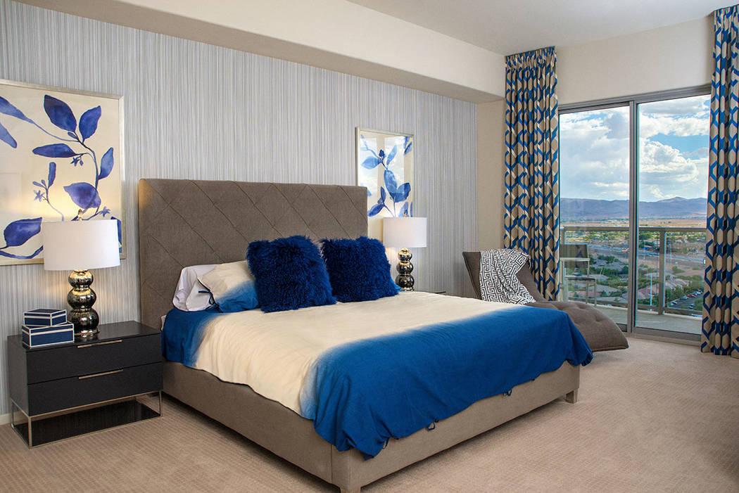 The 2,098-square-foot condo has three bedrooms. (One Las Vegas)