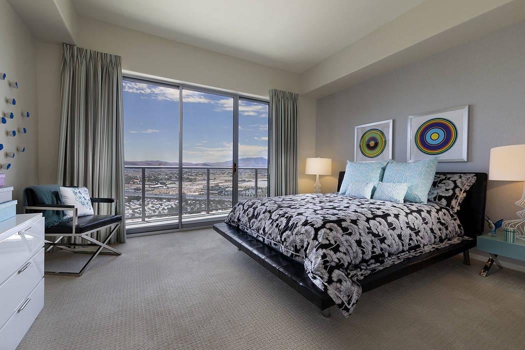 One of three bedrooms. (One Las Vegas)