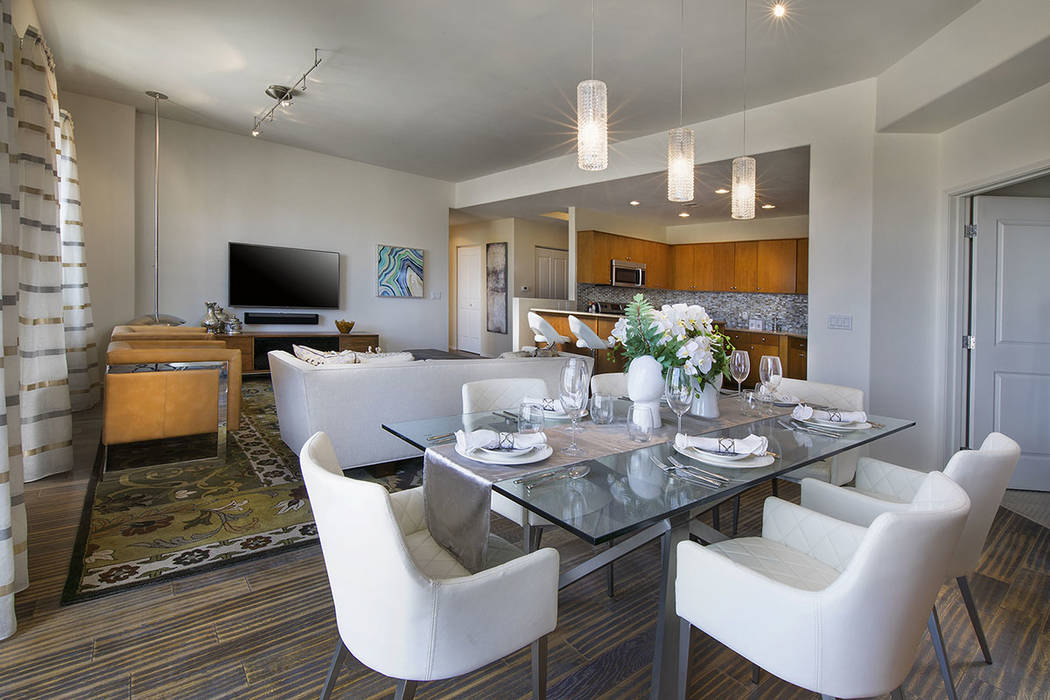 Located on the 20th floor this condo is offered for $699,900. (One Las Vegas)