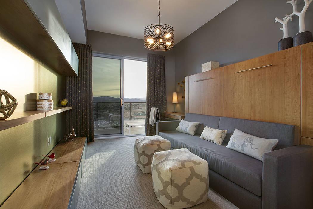 The home measures 2,098 square feet. (One Las Vegas)
