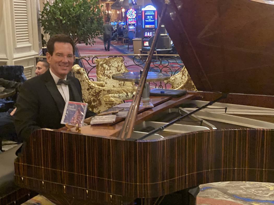 Davis Osborne is shown performing at the Petrossian Bar & Lounge at Bellagio on Friday, Dec. 14 ...