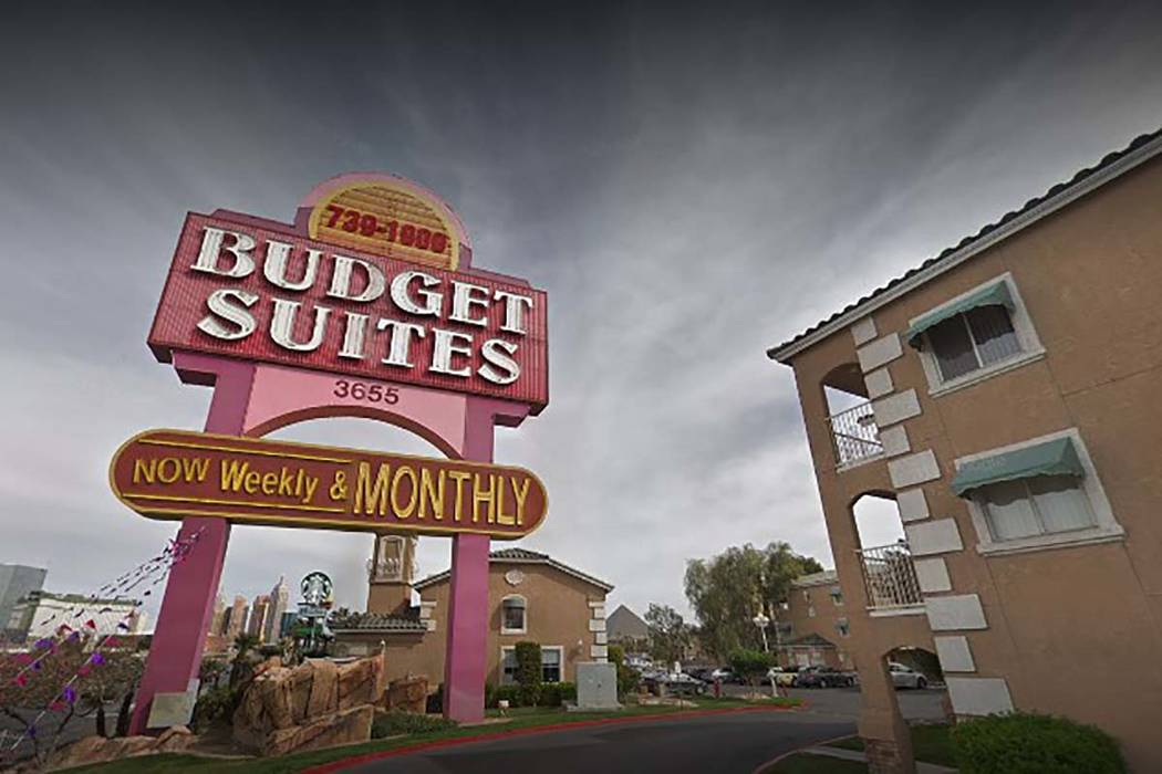 Budget Suites of America on West Tropicana. (Google Street View)