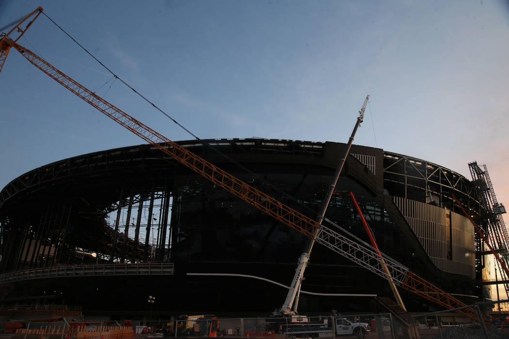 The Raiders Allegiant Stadium in Las Vegas, Wednesday, Dec. 11, 2019. (Erik Verduzco / Las Vega ...