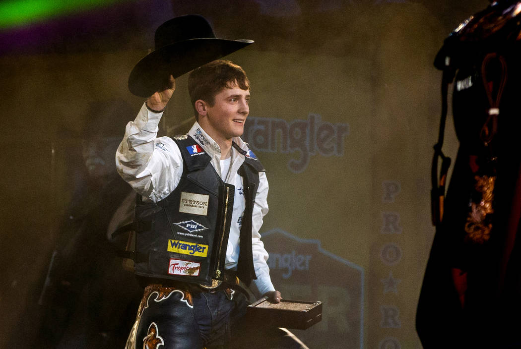 Stetson Wright of Milford, Utah, is named the All-Around World Champion following the tenth go ...