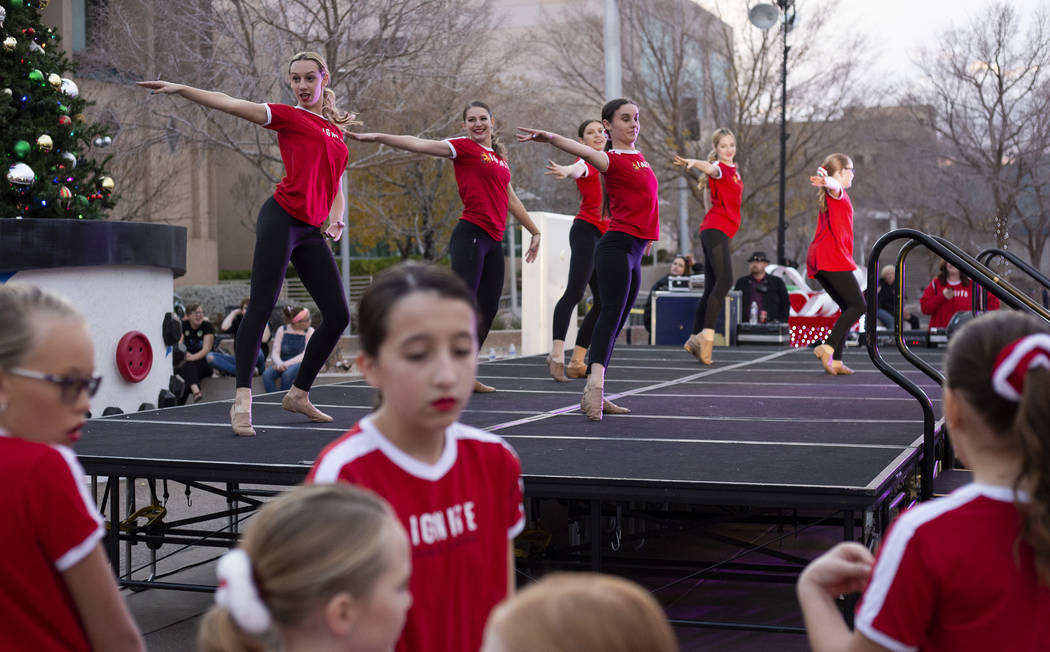 Students from Ignite Dance Center perform at Henderson's annual WinterFest on Saturday, Dec. 14 ...