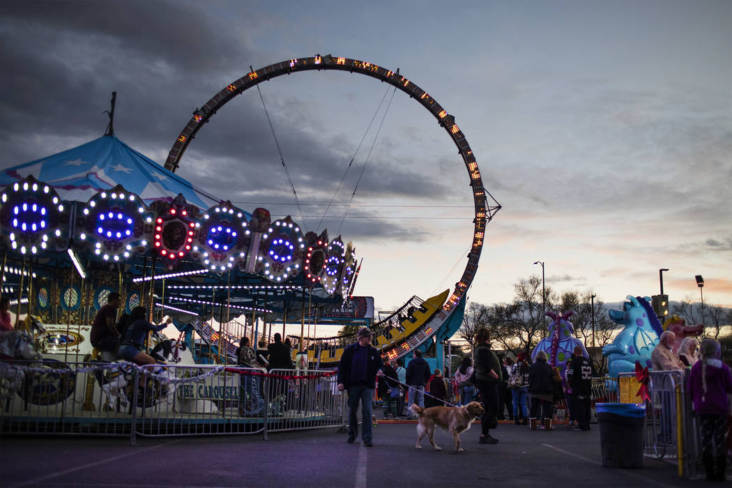 Rides are part of Henderson's annual WinterFest on Saturday, Dec. 14, 2019, in Henderson. (Elle ...