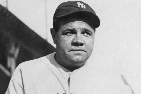 This undated file photo shows Babe Ruth. The bat used by the legendary baseball player to hit h ...