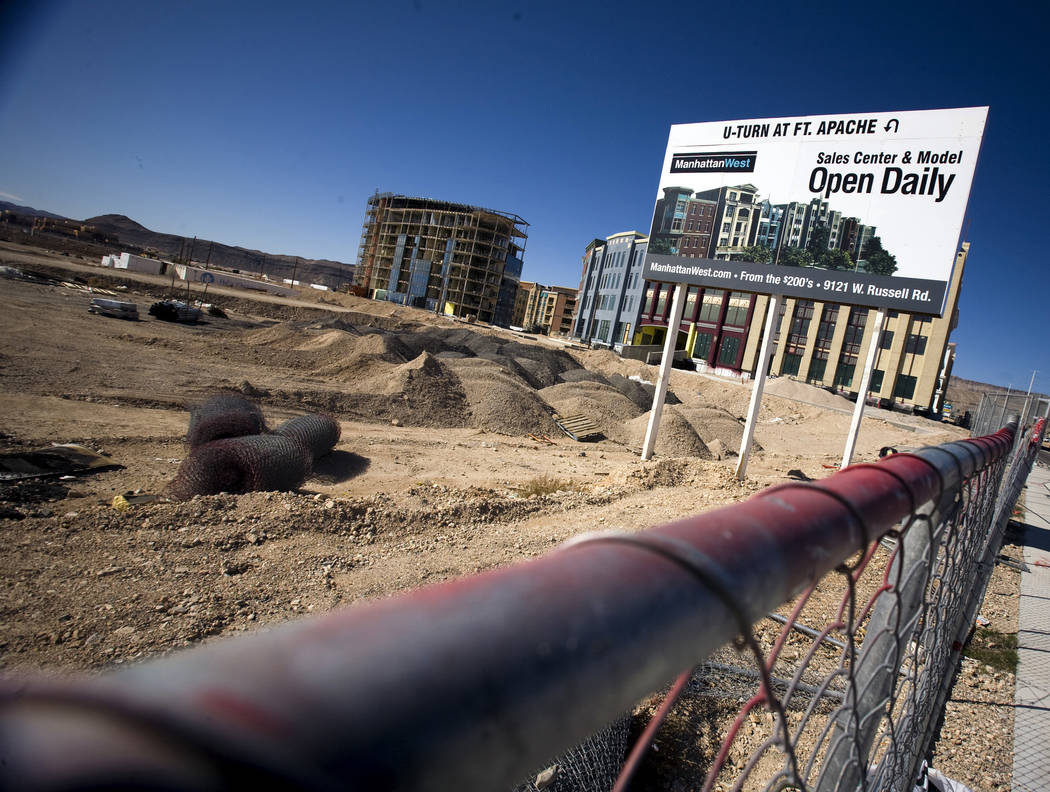 The mothballed ManhattanWest condo complex is seen Friday, March 6, 2009, in Las Vegas. It was ...