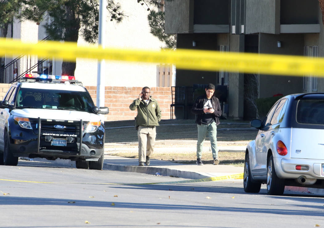 Metropolitan Police Department officers investigate after a suspicious device was found at Waln ...