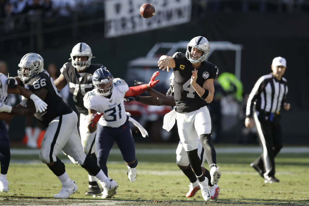 NFL apologizes to Raiders for call on Derek...