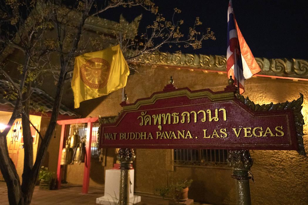 The Thai Buddhist Temple-Las Vegas,Wat Buddha Pavana,on Monday, Dec. 16, 2019, in N ...