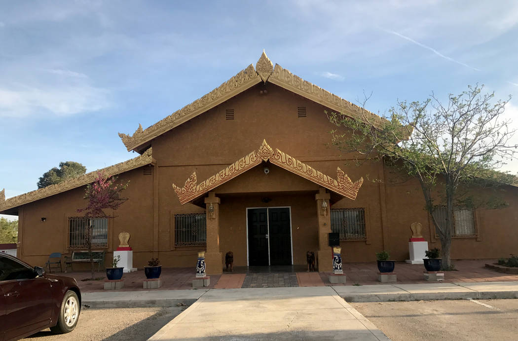 The Thai Buddhist Temple in a March 17, 2017, file photo. (Las Vegas Review-Journal)