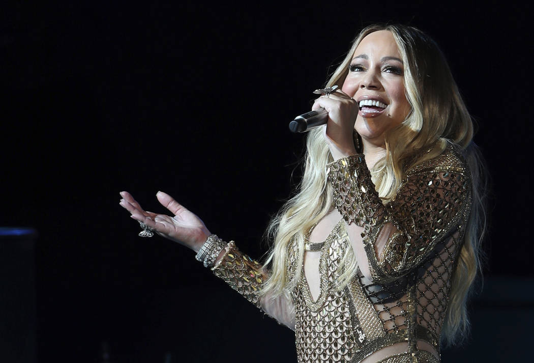 This Oct. 20, 2019 file photo shows Mariah Carey performing during a concert celebrating Dubai ...