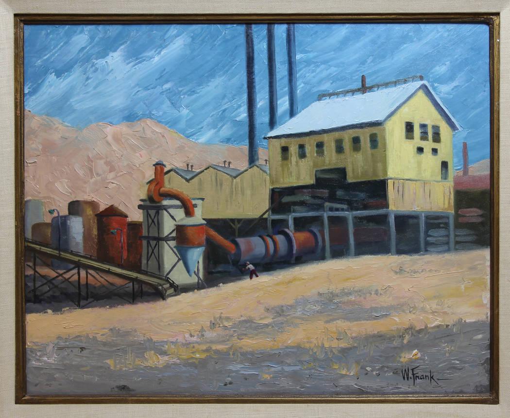 "W. Frank ""Since Torn Down,"" 1986 Oil on Canvasboard (Clark County Museum)"