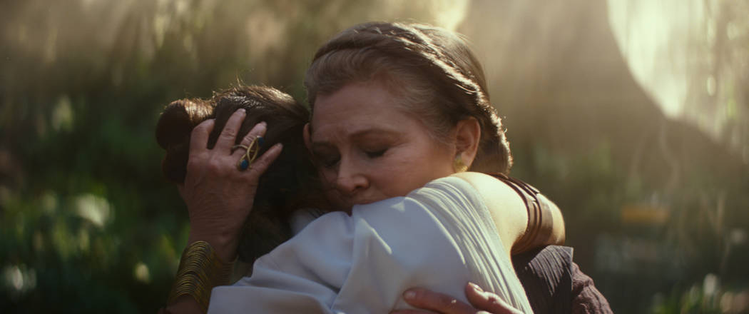 "General Leia Organa (Carrie Fisher) and Rey (Daisy Ridley) in ""STAR WARS: THE RISE OF SKYWALK ..."