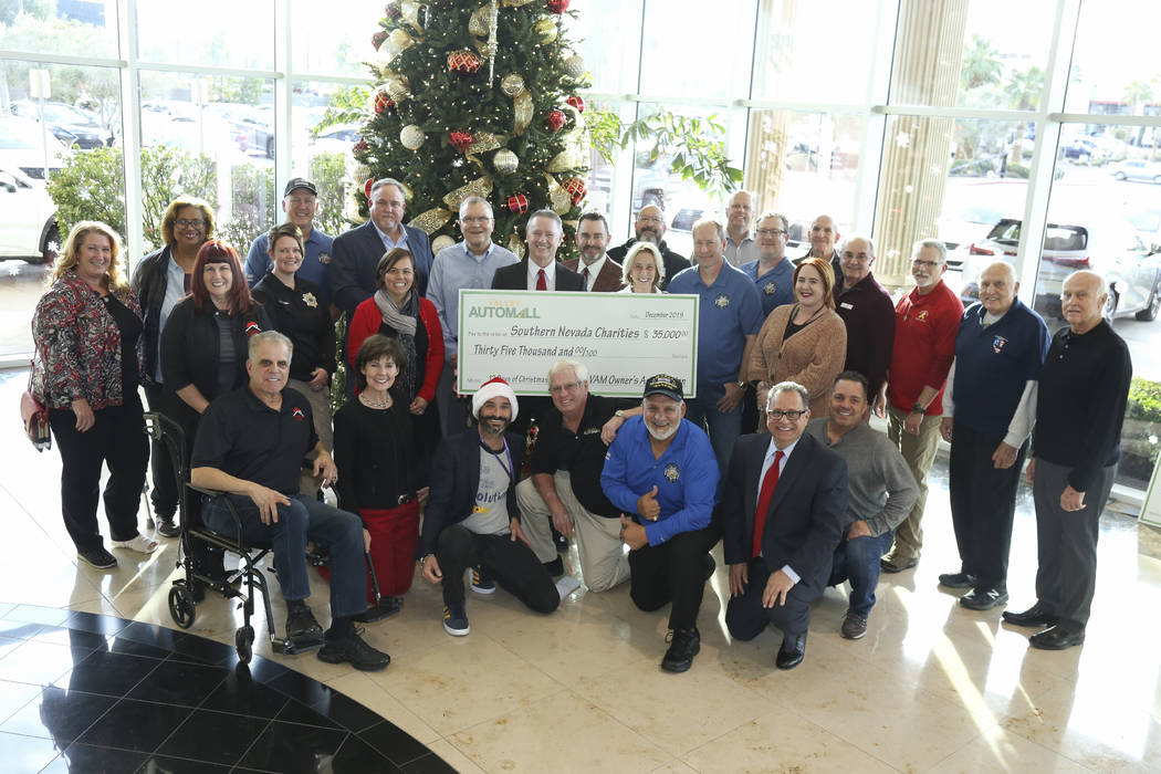 The Valley Automall's Twelve Days of Christmas helped 14 Southern Nevada charities with contr ...