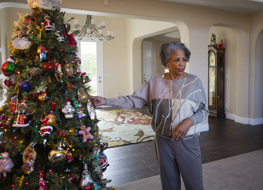 Roxanne Givens talks to the Review-Journal at her home in Las Vegas, Wednesday, Dec. 18, 2019. ...
