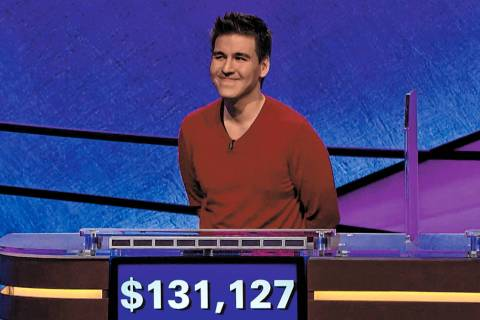 "This image made from video aired on ""Jeopardy!"" on Wednesday, April 17, 2019, and pro ..."