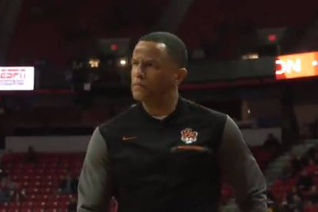 Pacific coach Damon Stoudamire reacts after being called for a technical foul Wednesday, Dec. 1 ...