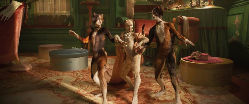 (from left) Rumpleteazer (Naoimh Morgan), Victoria (Francesca Hayward) and Mungojerrie (Danny C ...
