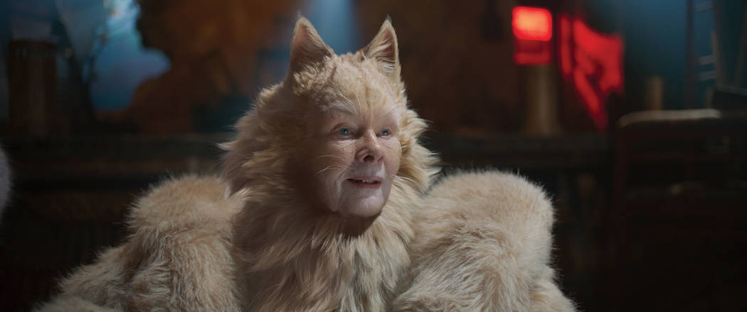 """Judi Dench as Old Deuteronomy in """"Cats,"""" co-written and directed by Tom Hooper. (Univ ..."""