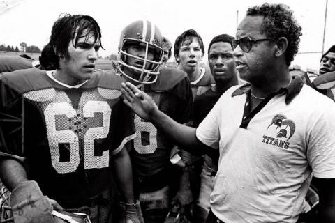 This 1971 file photo shows Alexandria, Va's., T.C. Williams High School football coach Herman B ...