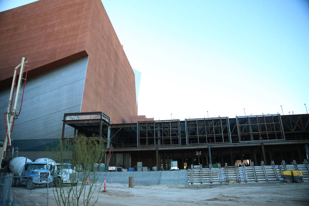 The construction site for the Expo at World Market Center in Las Vegas, Thursday, Dec. 19, 2019 ...