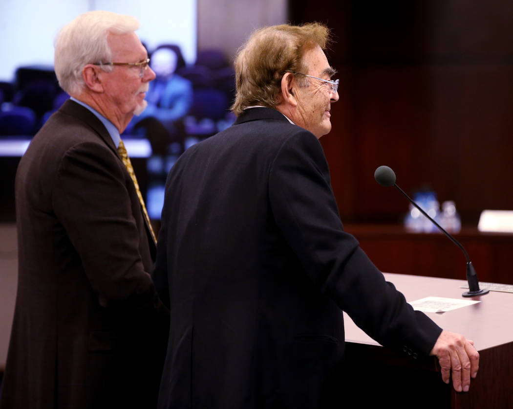 Phil Ruffin, right, appears before with his attorney Frank Schreck Nevada Gaming Commission at ...