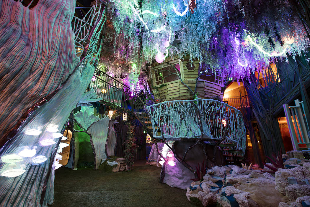 Meow Wolf's multiverse is home to a mysterious forest where visitors can climb and explore. (Ka ...