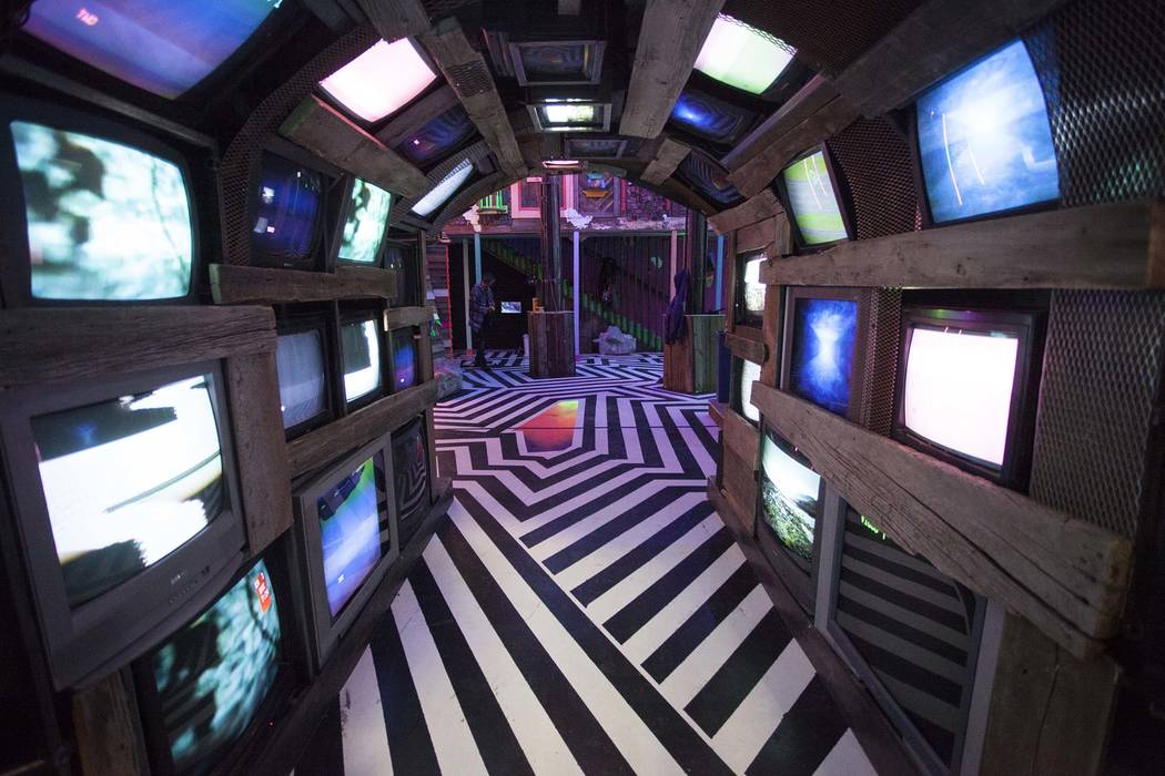 A corridor in Meow Wolf House of Eternal Return leads to a music venue. (Kate Russell, Courtesy ...