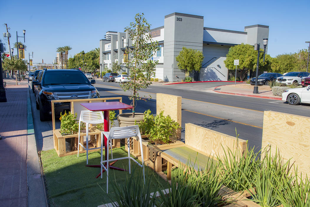 A parklet designed by TSK Architects and Lage Design is pictured in October on Water Street dur ...
