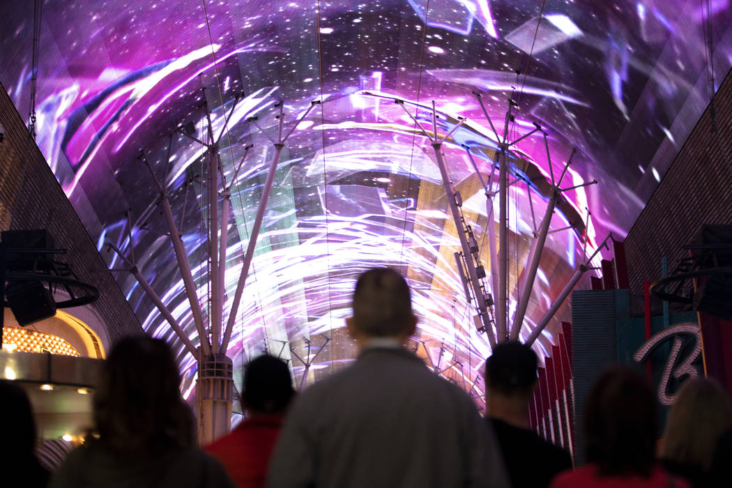 The Viva Vision canopy, the world's largest video screen, after undergoing at $32 million renov ...