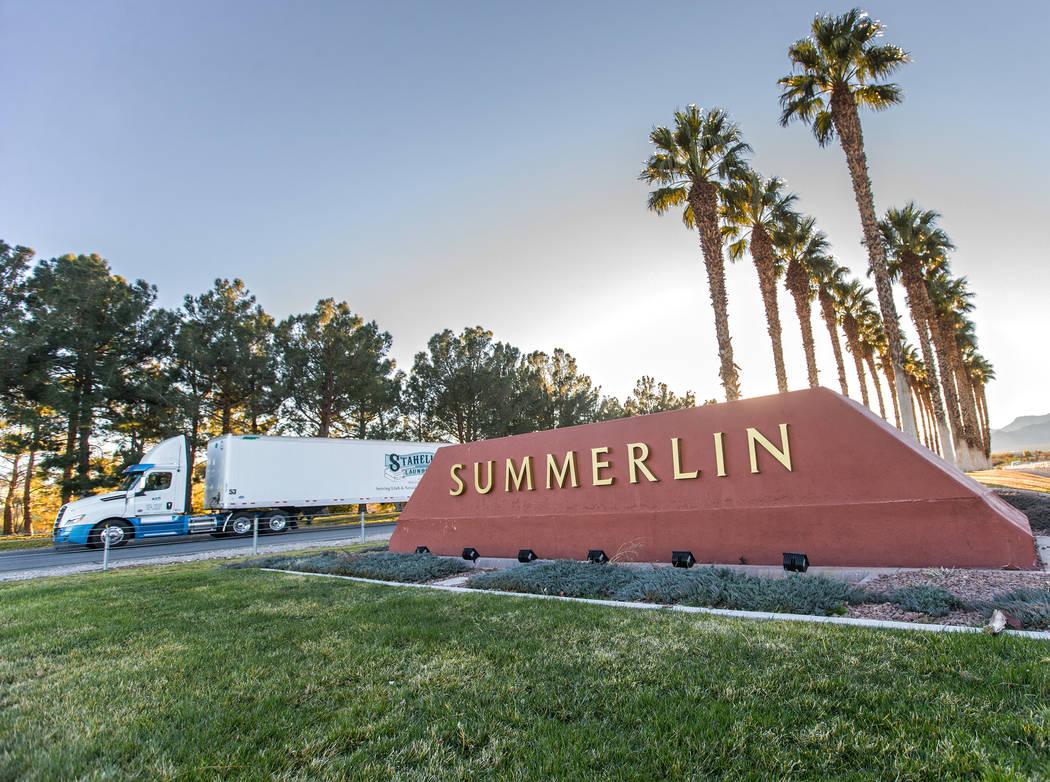 Summerlin will celebrate 30 years in 2020. (Benjamin Hager Las Vegas Review Journal)