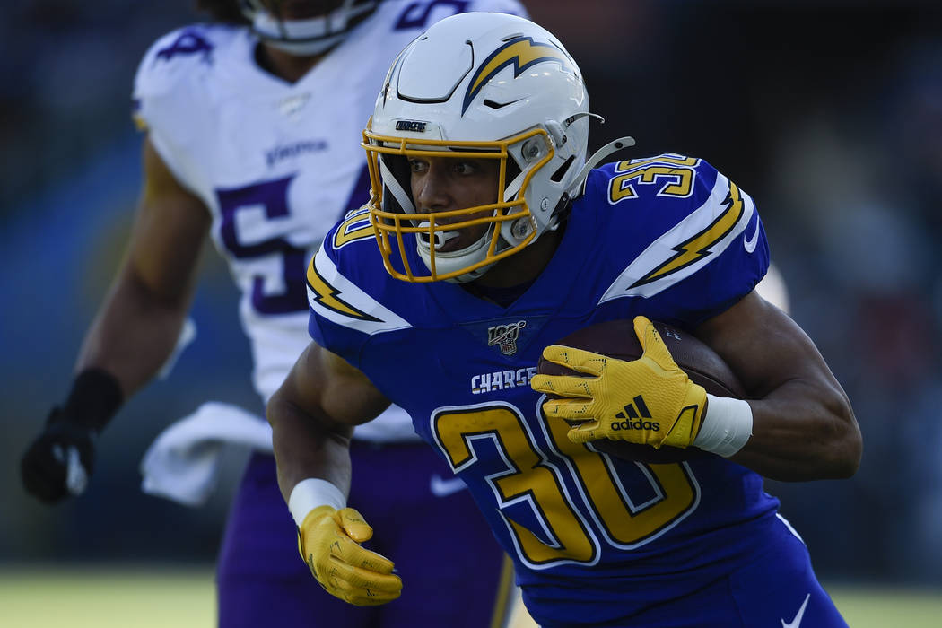 Chargers Austin Ekeler presents problems for Raiders as a receiver | Las  Vegas Review-Journal