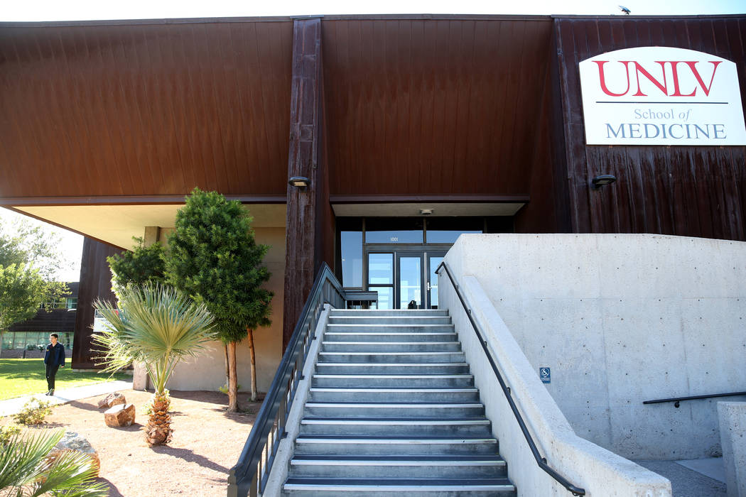 UNLV School of Medicine at the temporary Shadow Lane Biotech Research Center campus in Las Vega ...