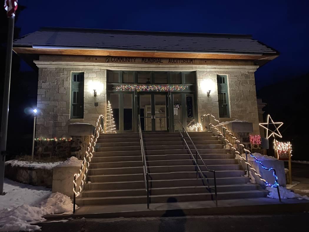 The Community Memorial Auditorium in Lava Hot Springs, Idaho. (John Katsilometes/Las Vegas Revi ...