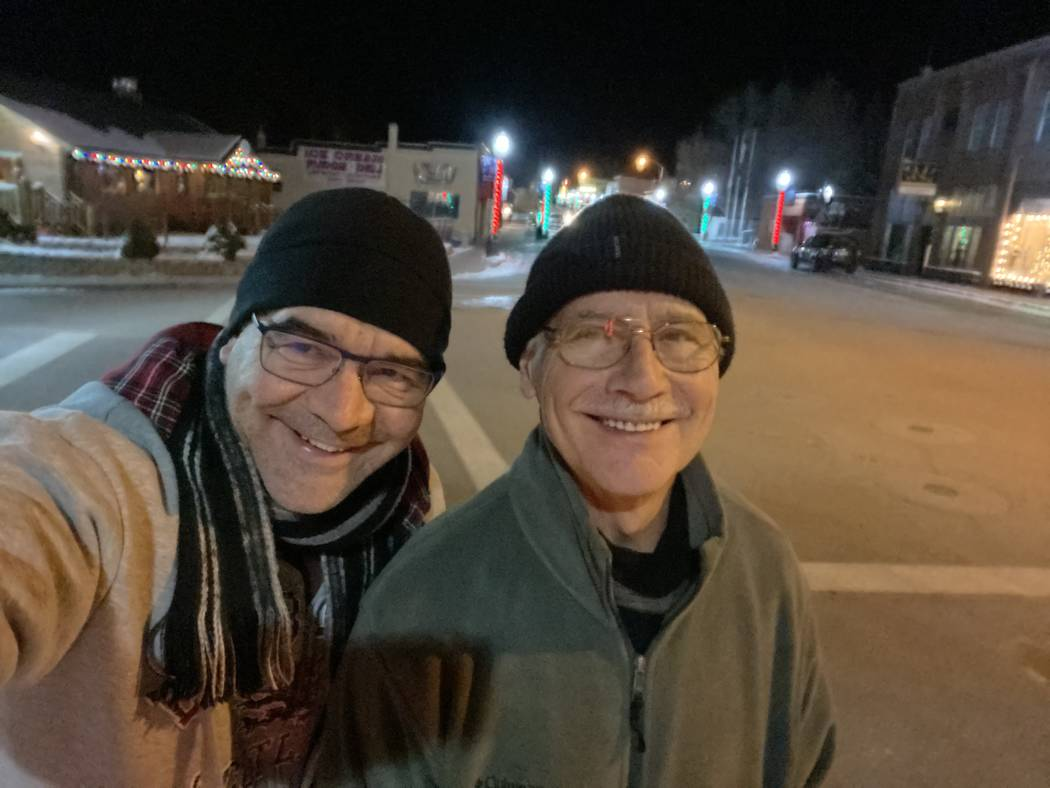 A selfie of John Katsilometes and his father, George, in downtown Lava Hot Springs, Idaho. (Joh ...