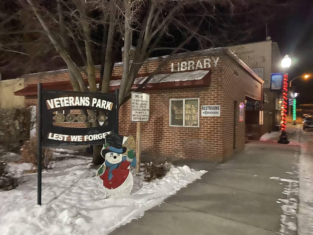 Veterans Park and the library in Lava Hot Springs, Idaho. (John Katsilometes/Las Vegas Review-J ...