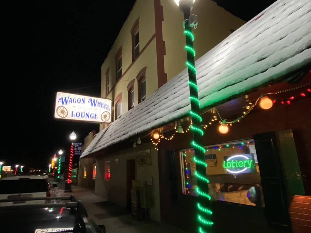 The exterior of the famous Wagon Wheel Lounge in Lava Hot Springs, Idaho. (John Katsilometes/La ...