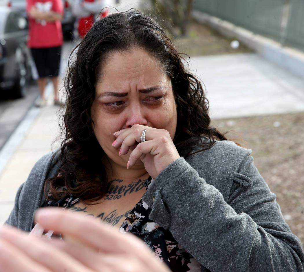 Alpine Motel Apartments co-owner Malinda Mier cries telling the story of her maintenance man wh ...