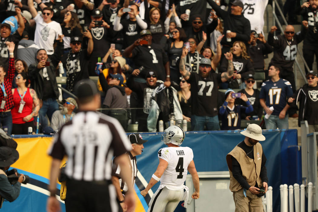Raiders feel at home in win over Chargers