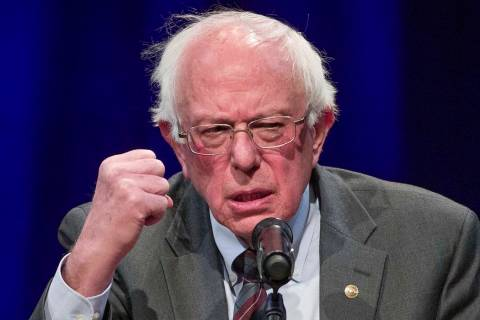 Sen. Bernie Sanders, I-Vt., at a George Washington University/Politics and Prose event in Washi ...