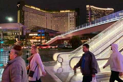 The 17th pedestrian bridge over the Las Vegas Strip opened to foot traffic Monday, Dec. 23, 201 ...