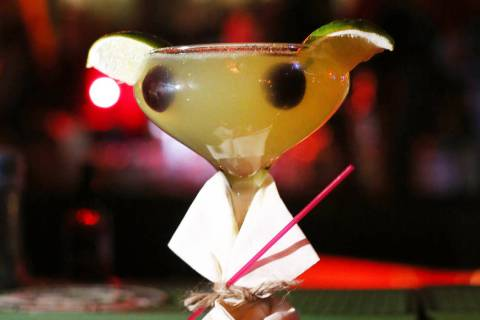 A Baby Yoda cocktail is pictured at the Golden Tiki in Las Vegas on Monday, Dec. 23, 2019. Eliz ...