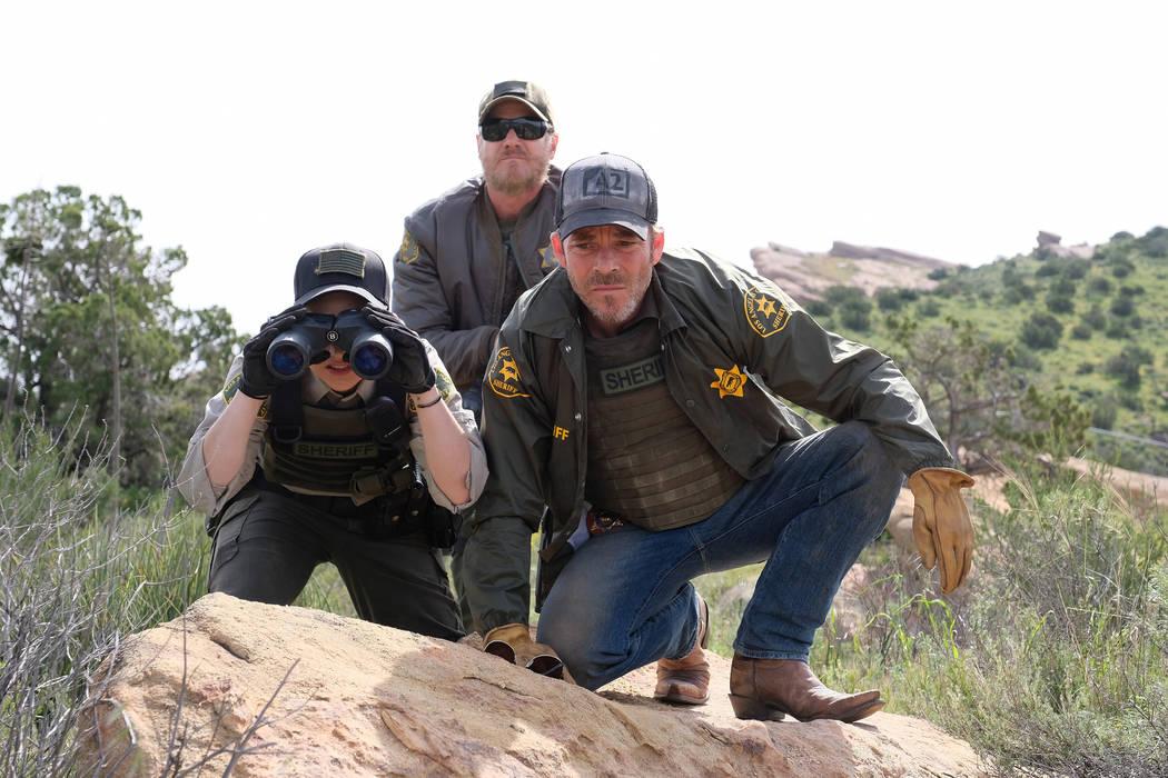 "DEPUTY: L-R: Bex Taylor-Klaus, Brian Van Holt and Stephen Dorff Dorff in the ""Graduatio ..."