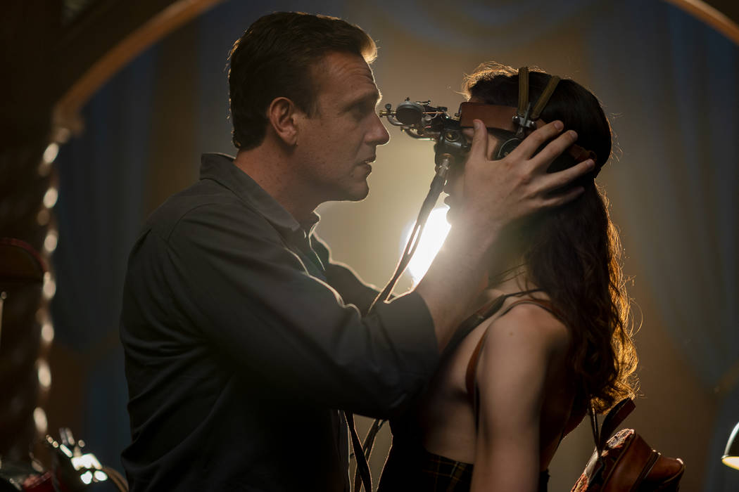 Jason Segel as Peter, Eve Lindley as Simone - Dispatches from Elsewhere _ Season 1 - Photo Cred ...