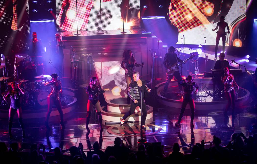 """Robbie Williams debuts his residency, """"Live In Las Vegas,"""" at Encore Theater at Wynn Las Vegas ..."""
