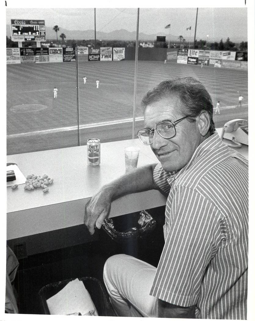 Larry Koentopp, who led the move to bring Triple-A baseball to Las Vegas in 1983, is shown in 1 ...