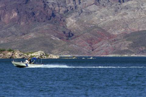A Nevada Department of Wildlife boat at Lake Mead. Under Nevada state law, a person must be at ...