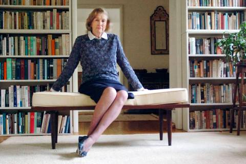 Author Elizabeth Spencer is pictured in Chapel Hill, North Carolina, in front of a personal lib ...